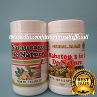 Obat Asam Urat Herbal Samurago & Habatop 3in1 Aman Tanpa Efek Samping