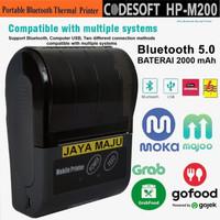 MINI THERMAL PRINTER BLUETOOTH CODESOFT HP-M200 58MM SUPPORT MOKAPOS