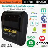 PRINTER USB + BLUETOOTH CODESOFT HP-M200 RPP02N THERMAL 58MM (ANDROID)