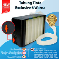 Tabung Tinta Exclusive 6 Warna Box Hitam Printer Epson 1390 T60 R230