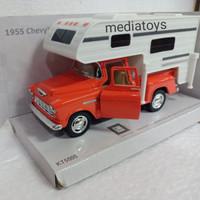diecast 1:32 kinsmart 1955 chevy stepside pickup(truck camper)