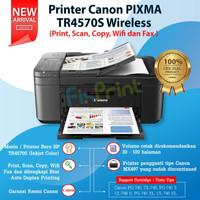 Printer Canon TR4570S print, scan, copy, wifi fax ADF pengganti MX497