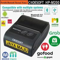 PRINTER BLUETOOTH CODESOFT HP-M200 RPP02N CETAK STRUK KASIR ANDROID
