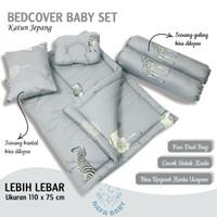 BEDCOVER BABY BED SET MATRAS SELIMUT BAYI KATUN JEPANG - ANIMAL GREY