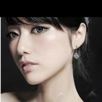 Anting HOOKS KOREA SILVER SIMPLE ZIRCON BLINK DANCING A0014