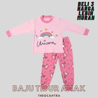Baju Tidur Balita lucu / Kaos Anak / Tshirt Anak - 01-Unicorn, S