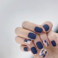 24pc Kuku Palsu / Fake Nails / Nailart Plus LEM Marble Sky Blue