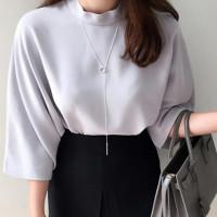 Kalung Hijab Simple Panjang Korea Adjustable Silver KL0007
