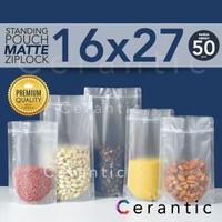 Plastik Klip MATTE DOFF 16 x 27 / FROSTED Standing Pouch 16x27 cm