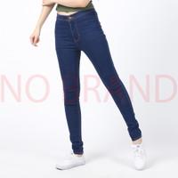 Celana Jeans Highwaist Panjang Skinny Wanita Navy - No Brand