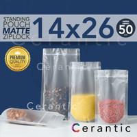Plastik Klip MATTE DOFF 14 x 26 / FROSTED Standing Pouch 14x26 cm