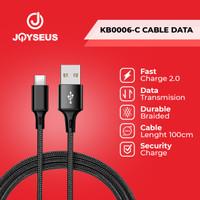 Kabel Data/ Cable Data TypeC Type C 2A JOYSEUS 100 cm Black - KB0006-C