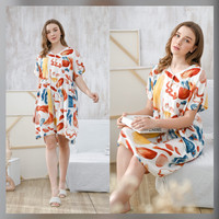 Julia Nightdress in Punchy Colors - Piyama / Daster Rayon by RAHA