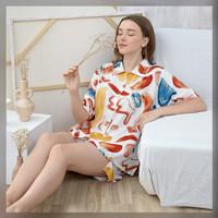 Enya Set in Punchy Colors - Sleepwear / Piyama Baju Tidur Rayon RAHA