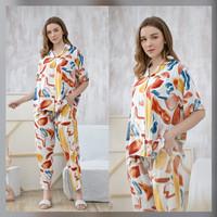 Eliza Set in Punchy Colors - Sleepwear / Piyama Baju Tidur Rayon RAHA