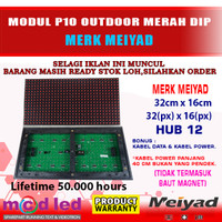 MODUL P10 MERAH 6 BAUT OUTDOOR LED PANEL RUNNING TEXT MEIYAD