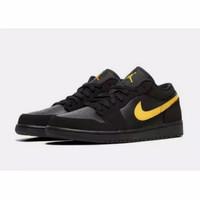 Sepatu Nike Air Jordan 1 Low Black Gold