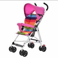 Stroller Bayi Lipat pelangi - Merah Muda
