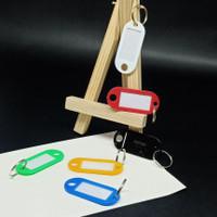 Gantungan Kunci Label Nama 6 Pcs - Gantungan Name Tag Joyko Key Ring W