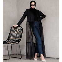 Tulle Long Dress Outer Outerwear cardigan kimono outer casual