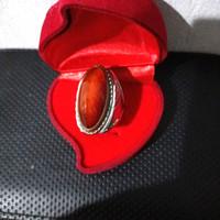 batu pandan merah reddish ring monel size 9,5