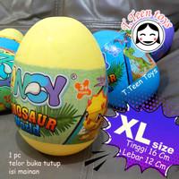 Telur plastik buka tutup 1 pc / surprise egg ball (Versi XL)