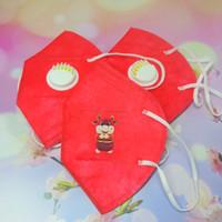 Masker kn95 dewasa 5ply respirator / valve edisi imlek bisa dicuci