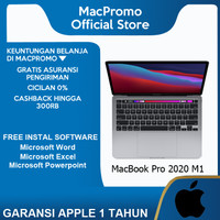 Apple Macbook Pro 2020 M1 8GB 256GB SSD MYD82 MYDA2 Gray Silver Resmi