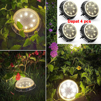 RAIBOHO Lampu Tanam LED Solar Outdoor 8 LED Waterproof 4 PCS