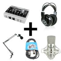 Alctron U16K MK3 Recording Pack 1 - USB Effect Audio Interface Bundle