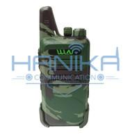 Sepasang WLN KD-C1 Walkie Talkie UHF Hijau Loreng Army Garansi KDC1