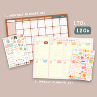 Moon Pancake Monthly and Weekly Planner Bundle Set