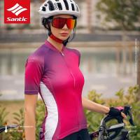 Santic Pink Jersey Sepeda Lipat Roadbike MTB Women Wanita WL0C02160Z