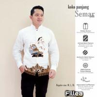 fillea koko batik pria panjang Semar putih baju solo alusan murah