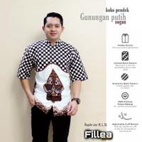 fillea koko batik pria pendek Gunungan putih sogan baju alusan murah