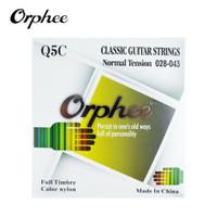Orphee Q5C 28-43 Senar Gitar Klasik Nylon Hitam Normal Tension Black
