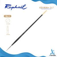 Kuas Lukis Raphael 867 Round Kevrin Synthetic Brush Long Handle