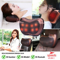 Bantal Pijat 8 Bola portable Car and Home-Massage Pillow speeds 202-01