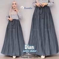 Rok Plisket Wanita Muslimah Terbaru Dian Jeans Wash Premium Recommend