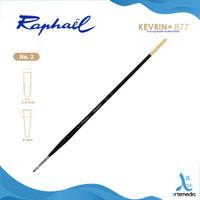 Kuas Lukis Raphael 877 Flat Kevrin Synthetic Brush Long Handle