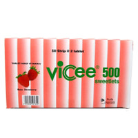 VICEE SWEETLETS 500 MG RASA STRAWBERRY ISI 50'S / VICEE STRAWBERRY