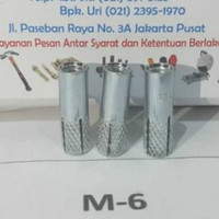 DINASET M6 DYNASET DROP IN ANCHOR M6 - PER DUS ISI 100 PCS