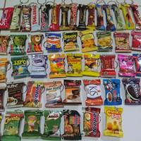 Gantungan Kunci Ganci Unik Souvenir Hadiah Model Snack Kopi Mie Cocok