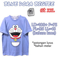 Blue Dora Bigtee KAOS WANITA MELAR LUCU CASUAL SUPER JUMBO XXL 2XL 2L