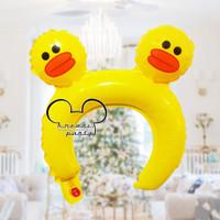 Balon Bando Karakter Bebek / Animal Headband / Balon Bando Anak