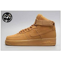 Sepatu Sneakers Nike Air Force 1 High Full Brown