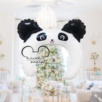 Balon Bando Anak Karakter Panda #1 /Balon Foil Bando Karakter Headband