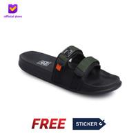 Sandal Pria Slide Footstep Footwear - Uno Green Army