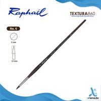 Kuas Lukis Raphael 860 Round Textura Synthetic Brush Long Handle