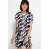 Nade Japan FT058 AMS Baju Tidur Tie Dye Slanted Wanita Set Baju Celana